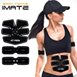 IMATE Abs Muscle Trainer Abdominal Toning Belt Abs Toner Abdominal Body Muscle Trainer USB Chargable Abs Fit Training Gear for Abdomen/Arm/Thigh/Waist Support for Men and Women