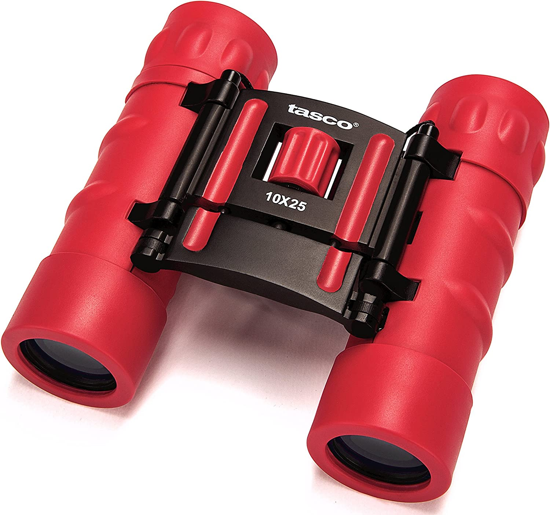 Tasco Fernglas 10x25 Essentials Frp Compact Red Red 168rbr Sport Freizeit
