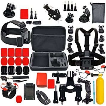 Deportes al aire libre Essentials Kit de cámara de acción de SJ4000 SJ5000 Xiaoyi GoPro Hero