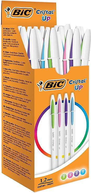 8 2 penne a sfera tratto medio BiC Cristal