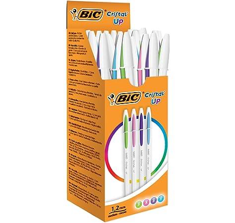 BIC Cristal Fun - Caja de 20 unidades, bolígrafos punta ancha (1,6 mm), colores surtidos: Amazon.es: Oficina y papelería