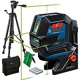 Bosch Professional Kombilaser GCL 2-50 G (grön laser, interiör, RM 10-fäste, stativ BT 150, synligt arbetsområde: upp…
