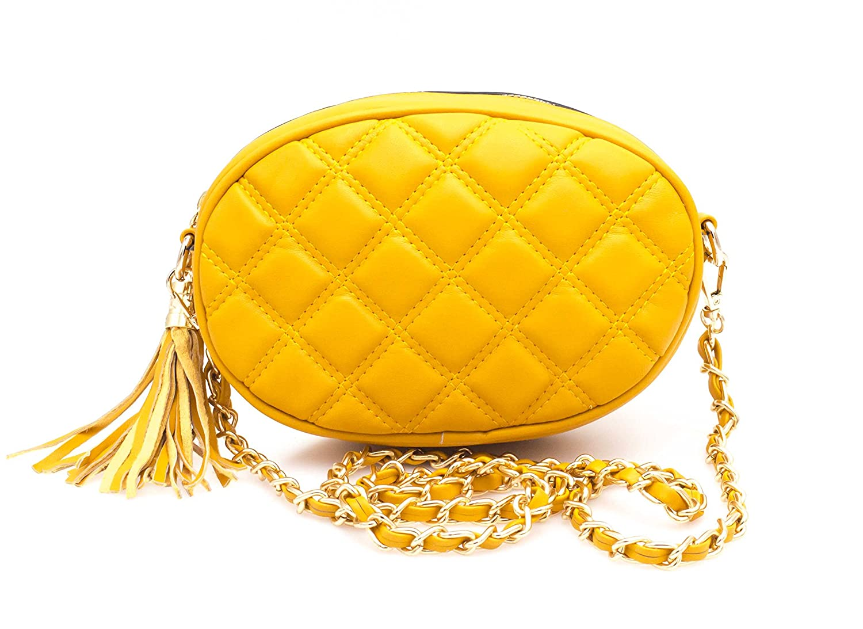 7c1016fdf923 Hello Bag - Mini Sac Banane Femme avec Ceinture - Sac Bandoulière Chaines  Silimicuir Matelassé -