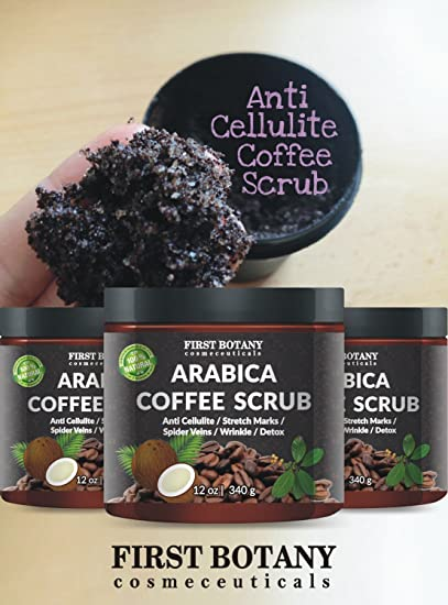 Amazon.com : 100% Natural Arabica Coffee Scrub 12 Oz. With Organic ...