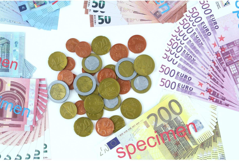 EDUPLAY Set de Monedas y Billetes Euro