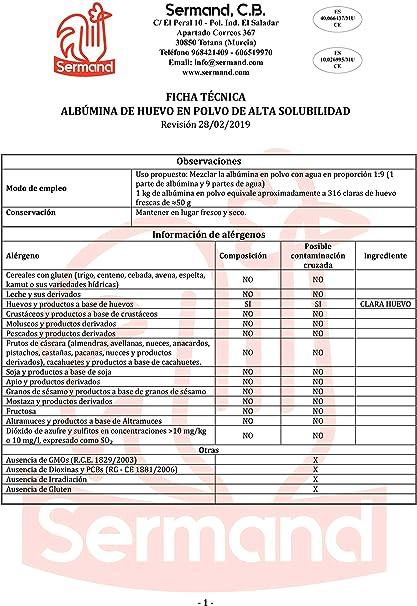 CLARA DE HUEVO EN POLVO 2.5KG (ALBUMINA)