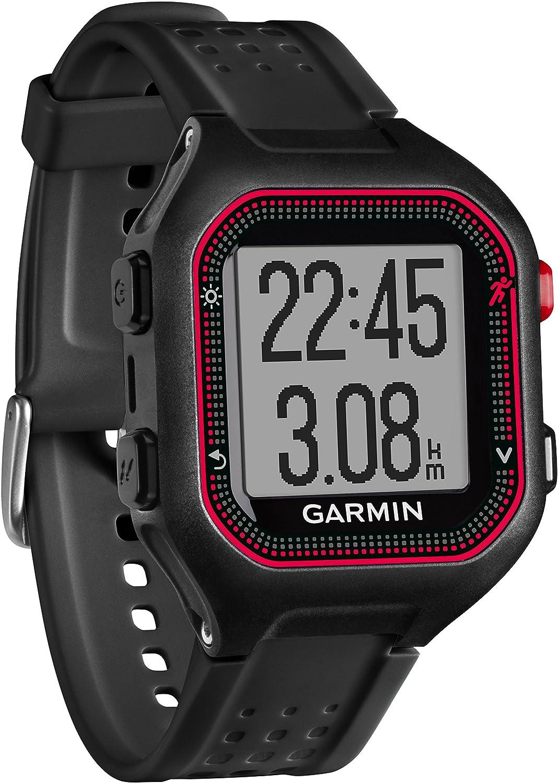 Garmin forerunner 25 gps running watch large black red amazon co uk electronics