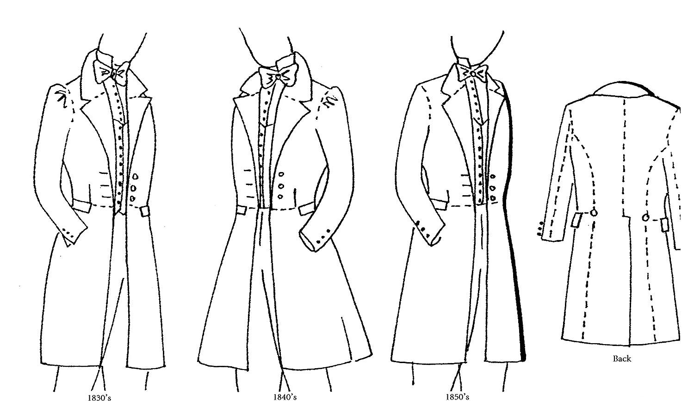 Amazon 1830s 1840s 1850s frock coat pattern jeuxipadfo Images
