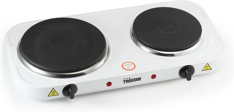 Tristar KP-6245 Placa de cocción, 2500 W, Acero Inoxidable, Blanco ...