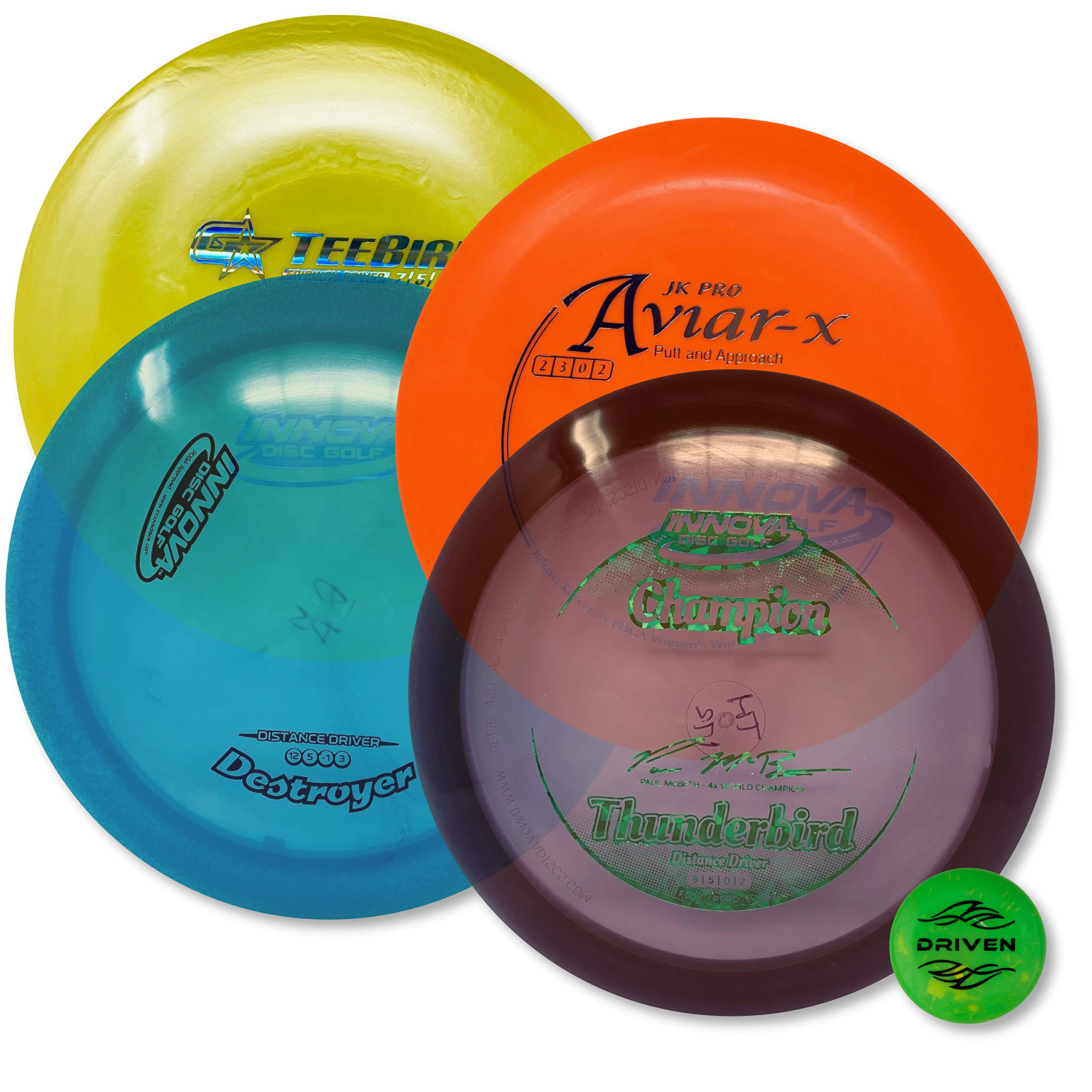 Driven Disc Golf - Advanced Players Pack (4 Disc Set Ver 2 - Premium (Colors Vary)) by Driven Disc Golf (Image #1)