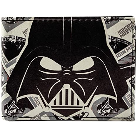 Cartera de Disney Star Wars Feroz máscara de Vader Blanco