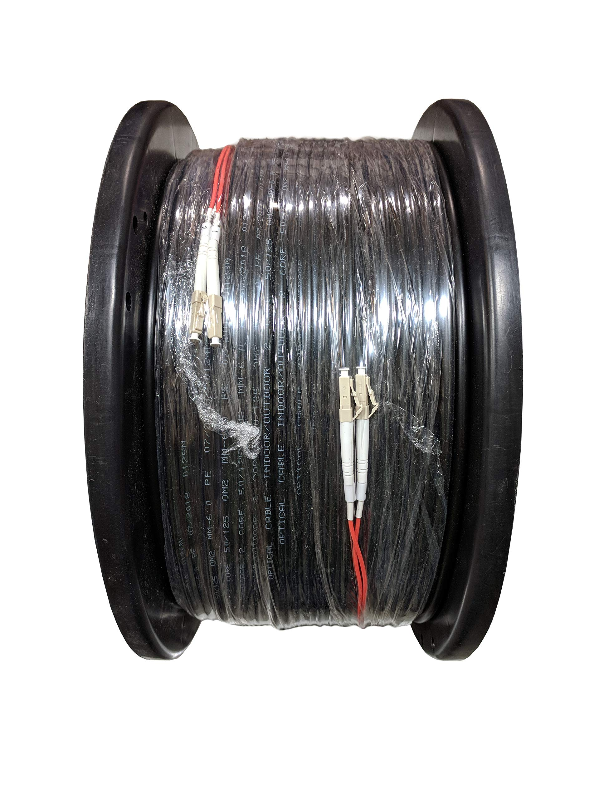 RiteAV - Direct Burial/Outdoor LC-LC 2-Strand Fiber Optic Cable - Multimode (50/125) - 200M (656ft) by RiteAV