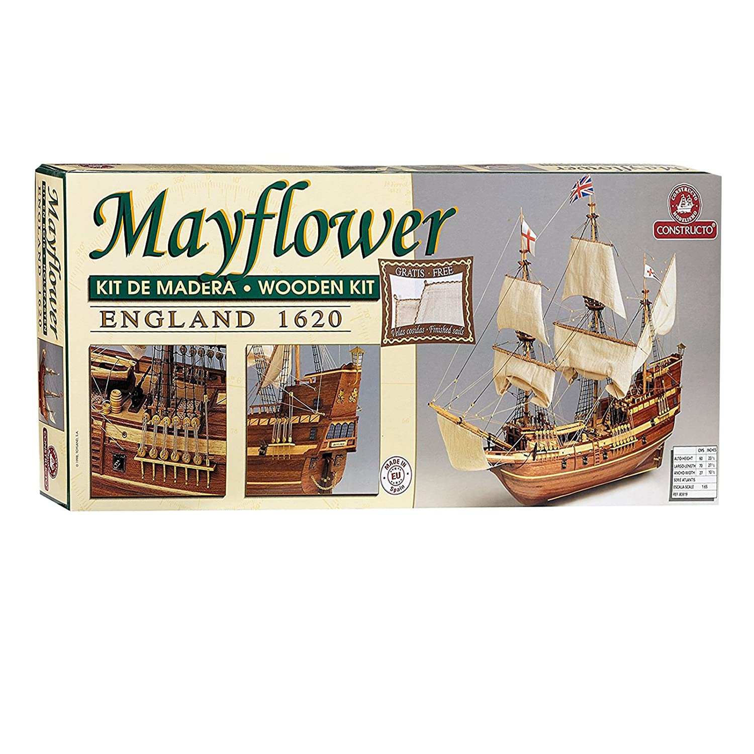 Amazon Com Jumbo Constructo Mayflower 1 65 Scale Model Ship