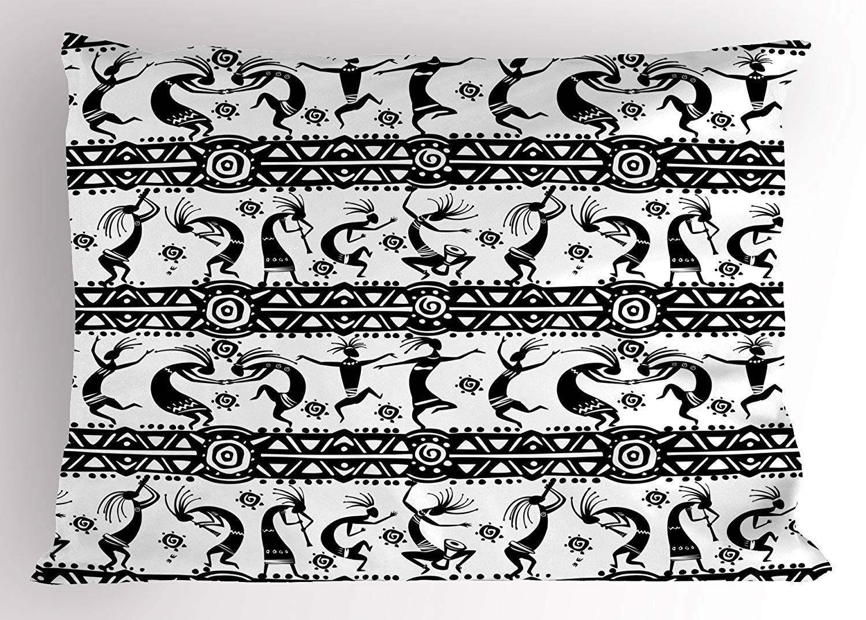 lsrIYzy ダマスク枕カバー ヴィンテージスタイルパターン クラシカルビクトリア調インテリアデザイン 花柄プリント 装飾標準クイーンサイズプリント枕カバー 30 X 20インチ ブラックとホワイト 30x20 inches lsrIYzy-1  17 B07Q8512VQ