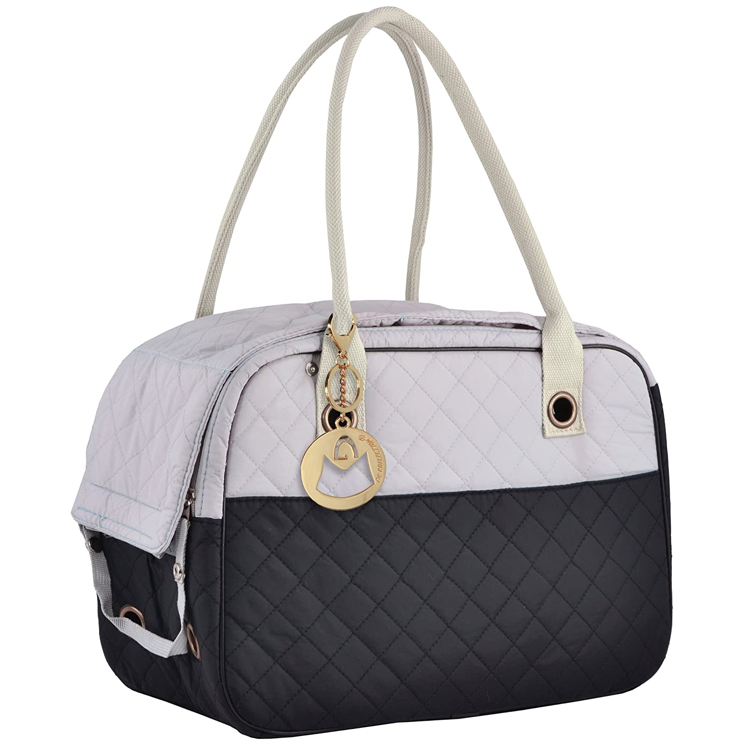 MG Collection Quilted Soft Sided Travel Pet Carrier Hand Bag