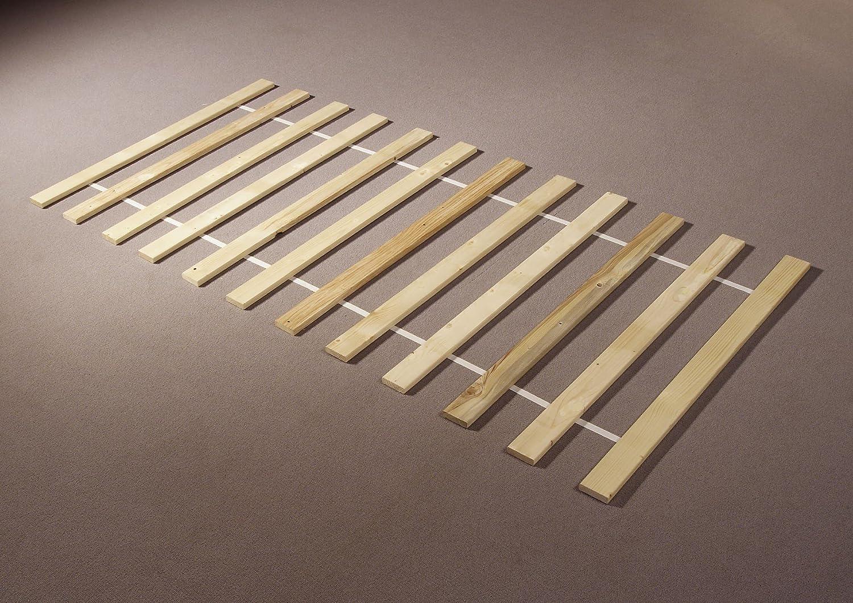 90x200 cm Rollo Disponibile in 2 Diverse Misure AVANTI TRENDSTORE Rete a doghe in Legno di Abete Massiccio su Cinghie di plastica
