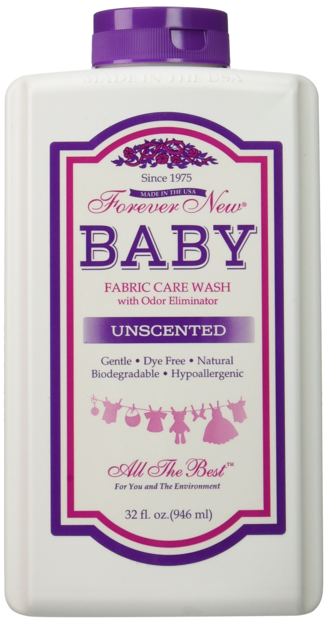 Forever New - Baby Fabric Care Wash with Odor Eliminator (32 oz.) Unscented