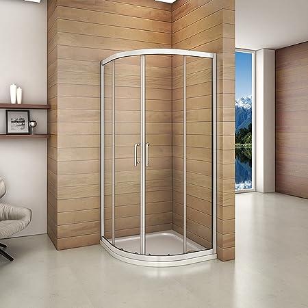 Perfect 800x800mm Quadrant Shower Enclosure Walk In Cubicle Door ...
