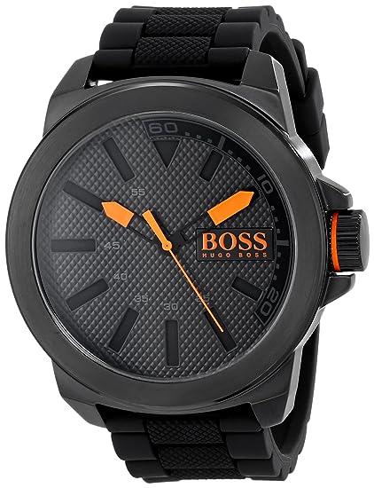 c257c37520dd BOSS Orange 1513004 Big Up Reloj negro de pantalla de cuarzo análoga para  hombre