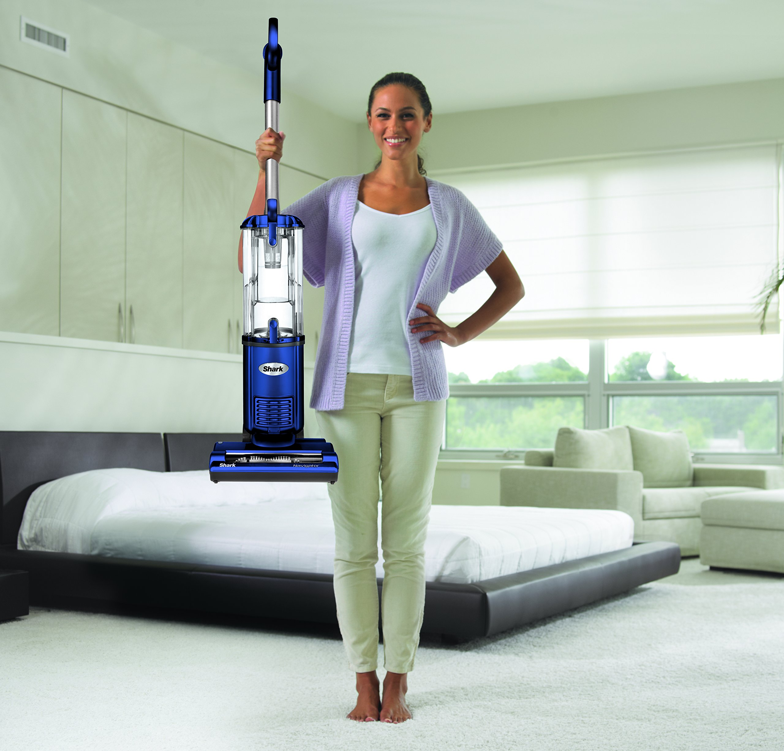 Shark Navigator Light Upright Vacuum Blue Nv105