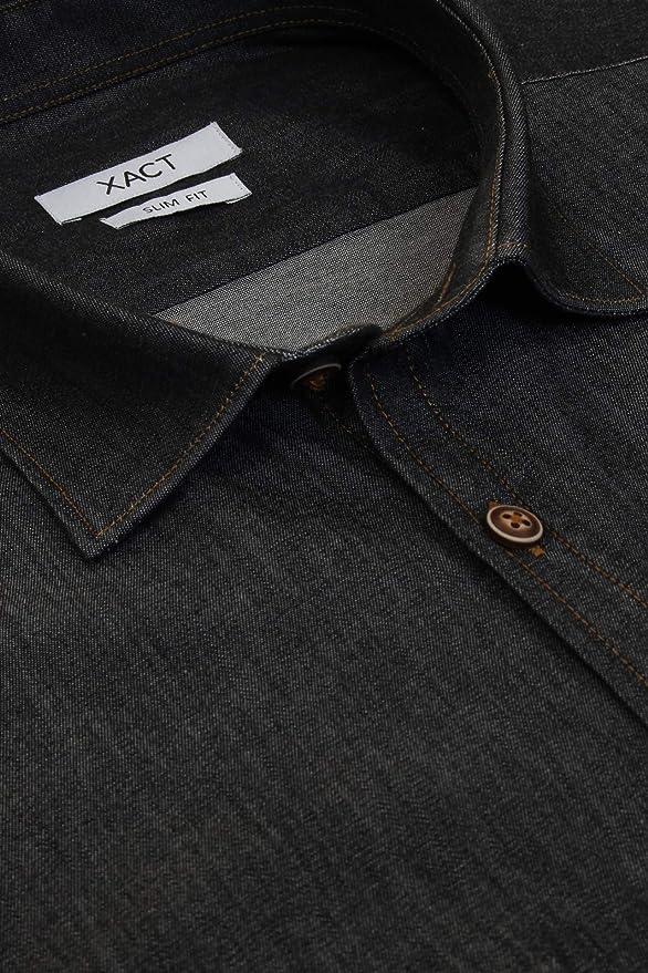 Superb Quality New Mens Duke Western Jean Denim Shirt Black BNWT