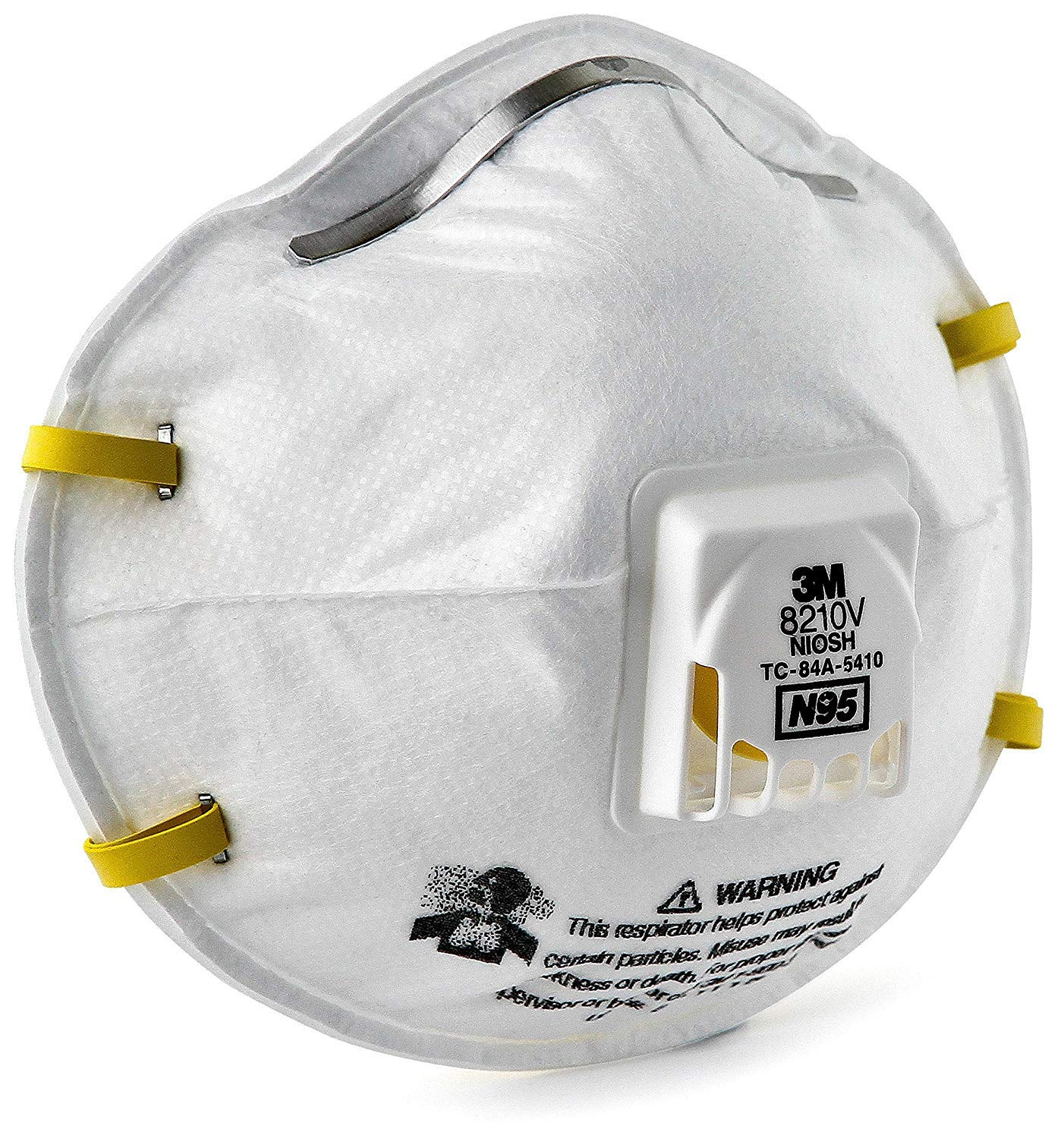 3M Particulate Respirator 8210V, N95 Respiratory Protection 80 each/case by 3M