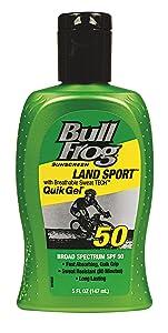 BullFrog Land Sport, Quik Gel Sunscreen SPF 50 5 oz