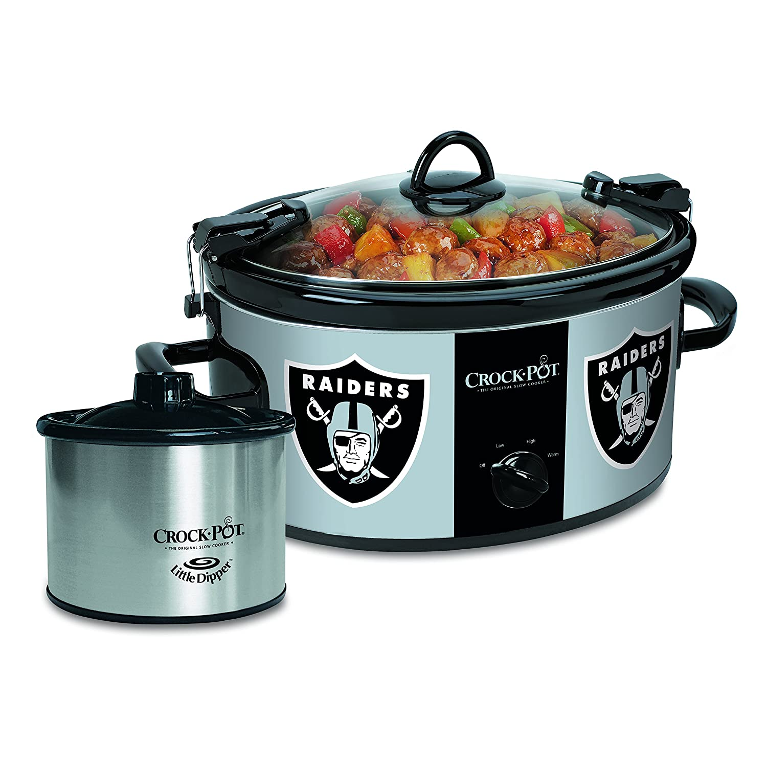 Crock-pot SCCPNFL603-OR Oakland Raiders Slow Cookers, White