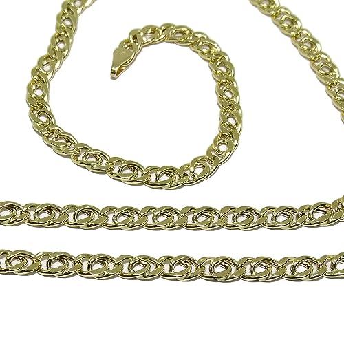 5b304a0469f9 Cadena de Oro Amarillo para Hombre de 4mm de Ancha y 60cm de Larga Cierre  mosquetón  Amazon.es  Joyería