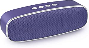 【Upgraded】 Wireless Bluetooth Speakers, EWANTIC 2nd Gen Bass Portable Speakers with Advanced V5.0+EDR Tech, 300ft Wireless Range, FM Radio Speaker Built-In USB and SD Card Slot for Gift Ideas
