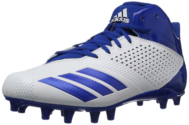 adidas Men's Freak X Carbon Mid Football Shoe, White/Croyal/Croyal, 11 M US by adidas