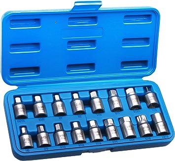 Öldienstschlüssel Set 17tlg Ölablass Schrauben Werkzeug Baumarkt
