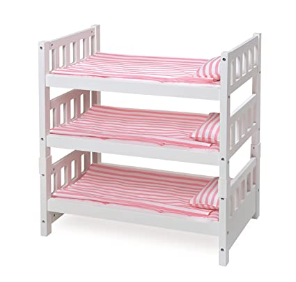 Amazon Com Badger Basket 1 2 3 Convertible Doll Bunk Bed Fits
