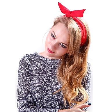 Amazon.com  HDE Girl s Fashion Dolly Bow Rabbit Ear Wired Headband ... bc39527ff58