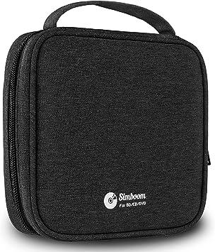 SIMBOOM Fundas Bolsas para CD/DVD, Porta CD Estuche para Almacenamiento de CD Capacidad para 32 cds, Negro: Amazon.es: Electrónica