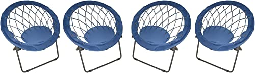 Blue Bungee Chairs Pack of 4