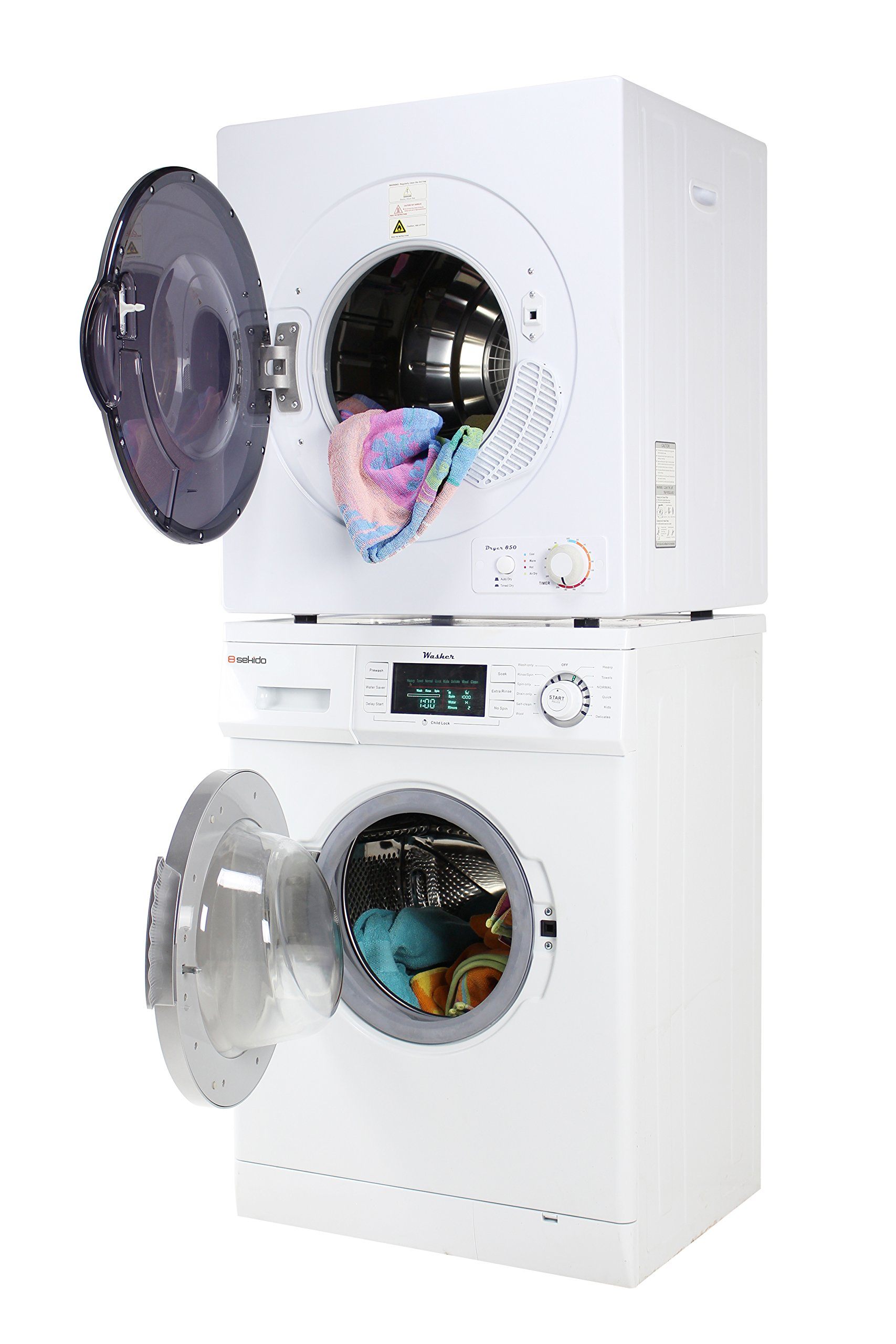 Sekido Super Washer SK 824 and Electric Venting Dryer SK 850 Set of the latest models along with 13lb load capacity very much user friendly with Delay Start Option