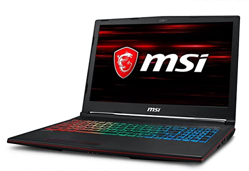 MSI GP63 Leopard 8RE-065UK 15.6-Inch Gaming Laptop - (Black) (Intel i7 8750H, 16 GB RAM, 1 TB HDD Plus 128 GB SSD, NVIDIA GeForce GTX 1060 Graphics, Windows 10 Home)