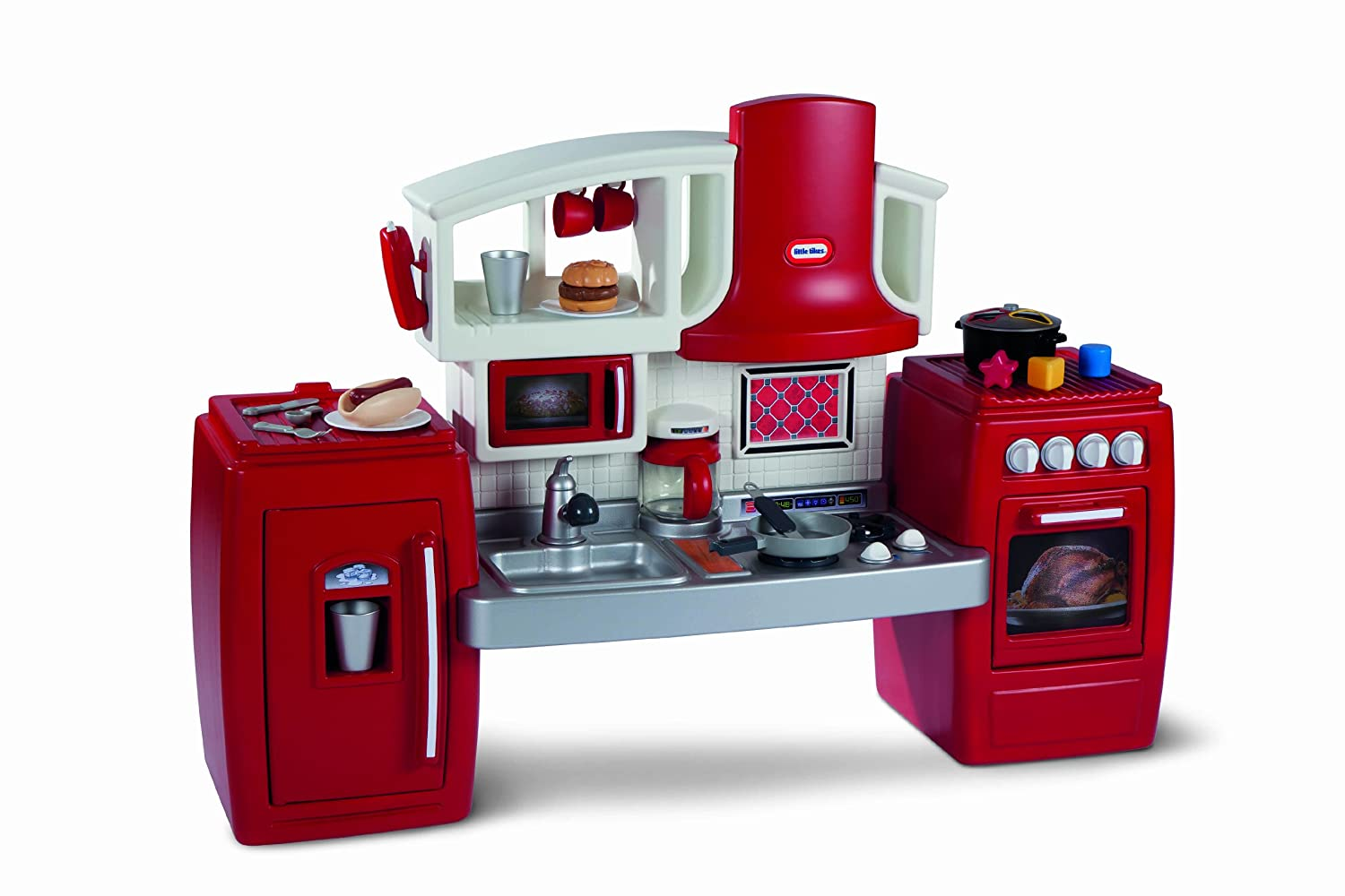 Cosy kitchen hutch cabinets marvelous inspiration Interior Freshomecom Amazoncom Little Tikes Cook Grow Kitchen Toys Games