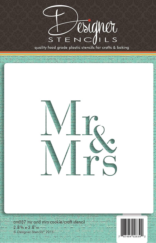 Mr & Mrs Cookie and Craft Stencil CM037 by Designer Stencils
