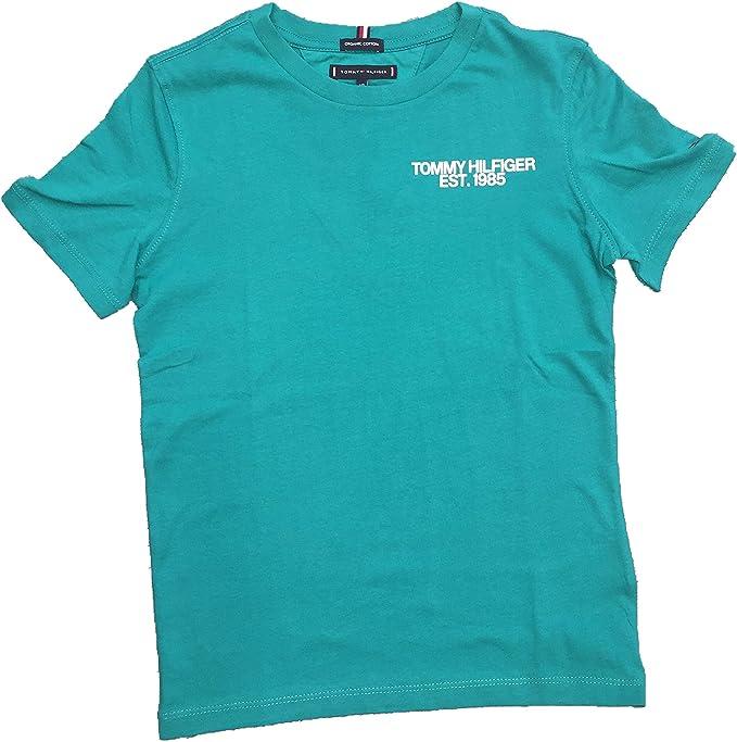 Tommy Hilfiger - KB0KB04677 303 - Camiseta Manga Corta - NIÑO (10 ...