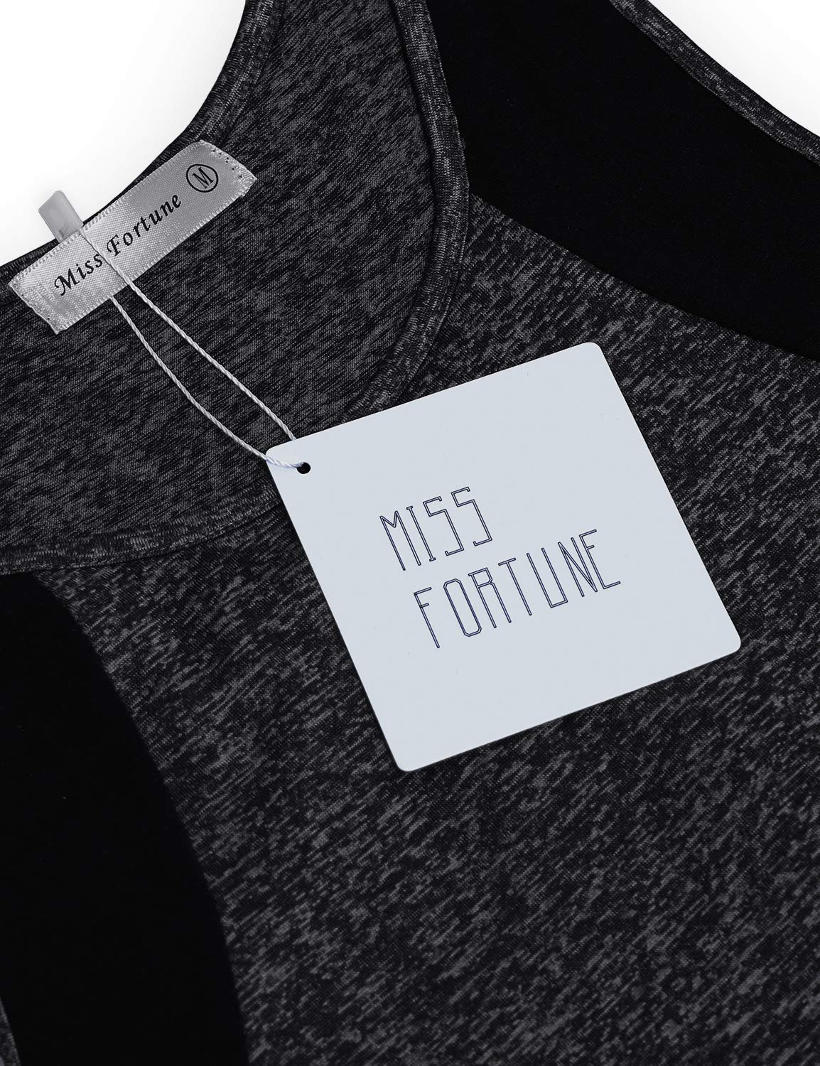 Miss Fortune Sleeveless Yoga Tops for Women, Crew Neck Casual Loose Comfy Burnout Light Breathable Racerback Workout Yoga Tank Tops Shirt Zumba Tennis Tanks Dark Gray M by Miss Fortune (Image #4)