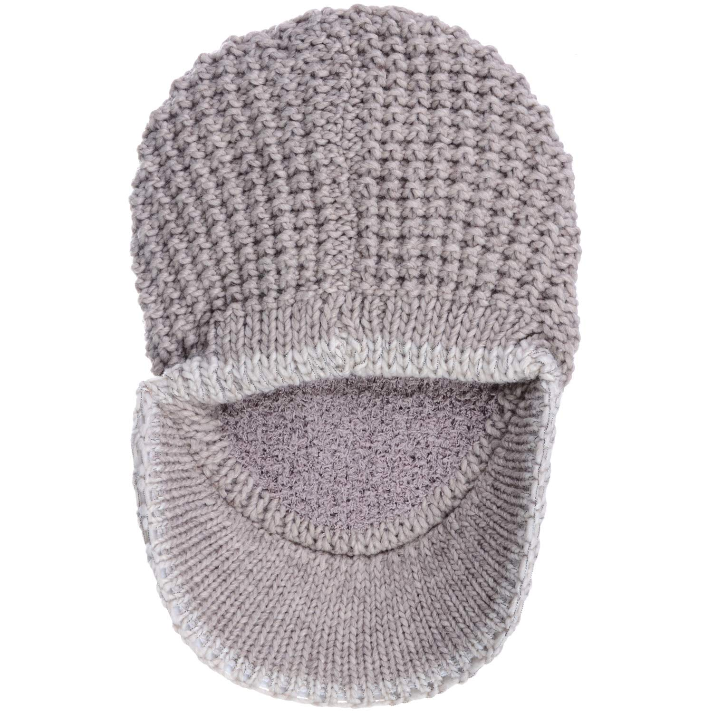 f3fc7c556fd62 AN- Winter Warm Fashion Plain Knit Cap Hat Fleece Lined Wool Blend with  Contrast Trim