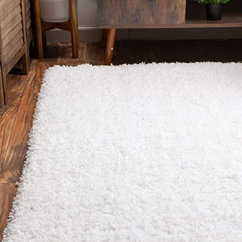 Super Area Rugs Ultra Fluffy Soft Handmade Shag Rug