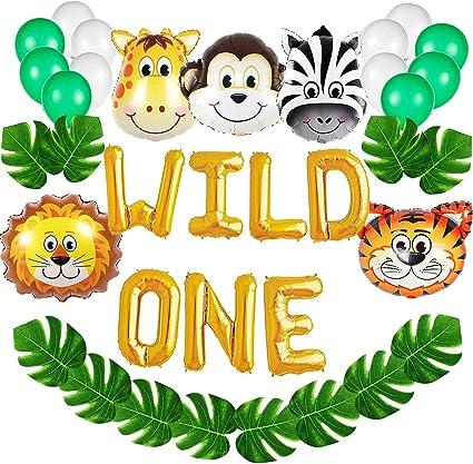 Amazon.com: Wild One Kit de decoraciones de cumpleaños, 16 ...