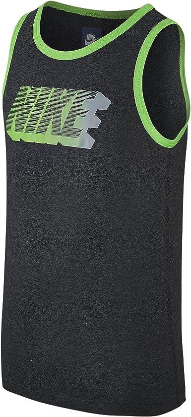 Nike Camiseta Tirantes YTH FUTURA ICON TANK Negro Junior Algodón - L (12-13 años): Amazon.es: Ropa y accesorios