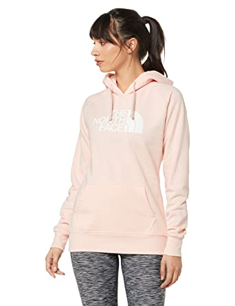 e021eaf53 The North Face Women's Half Dome Pullover Hoodie, Pink Salt/TNF White, Size
