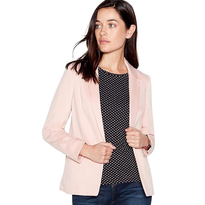 f43646bd61678 Principles Petite Womens Pink Ponte Petite Blazer 10P: Principles ...