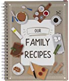 Our Family Recipes Journal, Blank Recipe Book (6.5 x 8.2 in.)