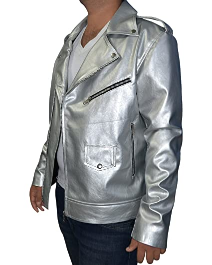 Quicksilver X-Men Apocalypse Evan Peters Silver leather jacket (XX-Small)
